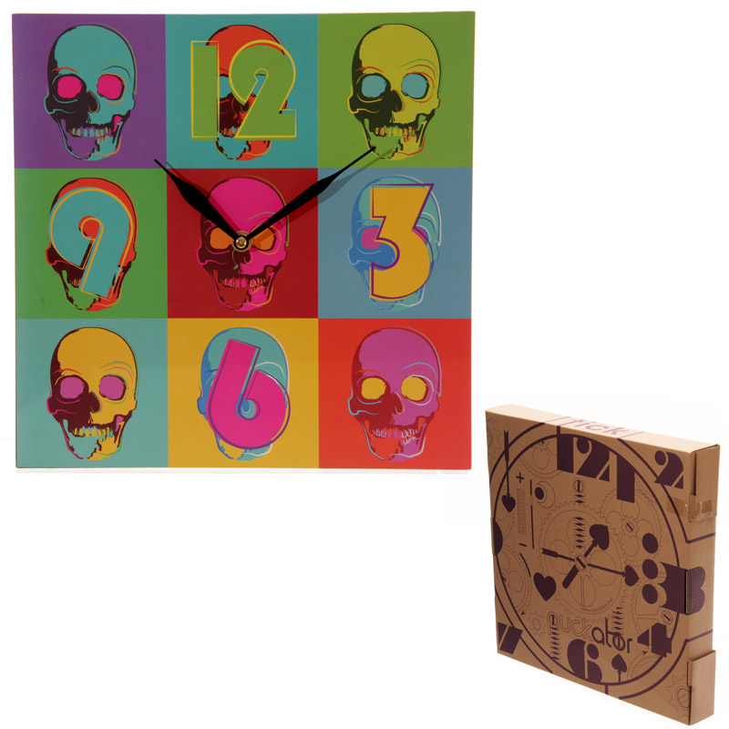 Pop Art Skull Picture Clock